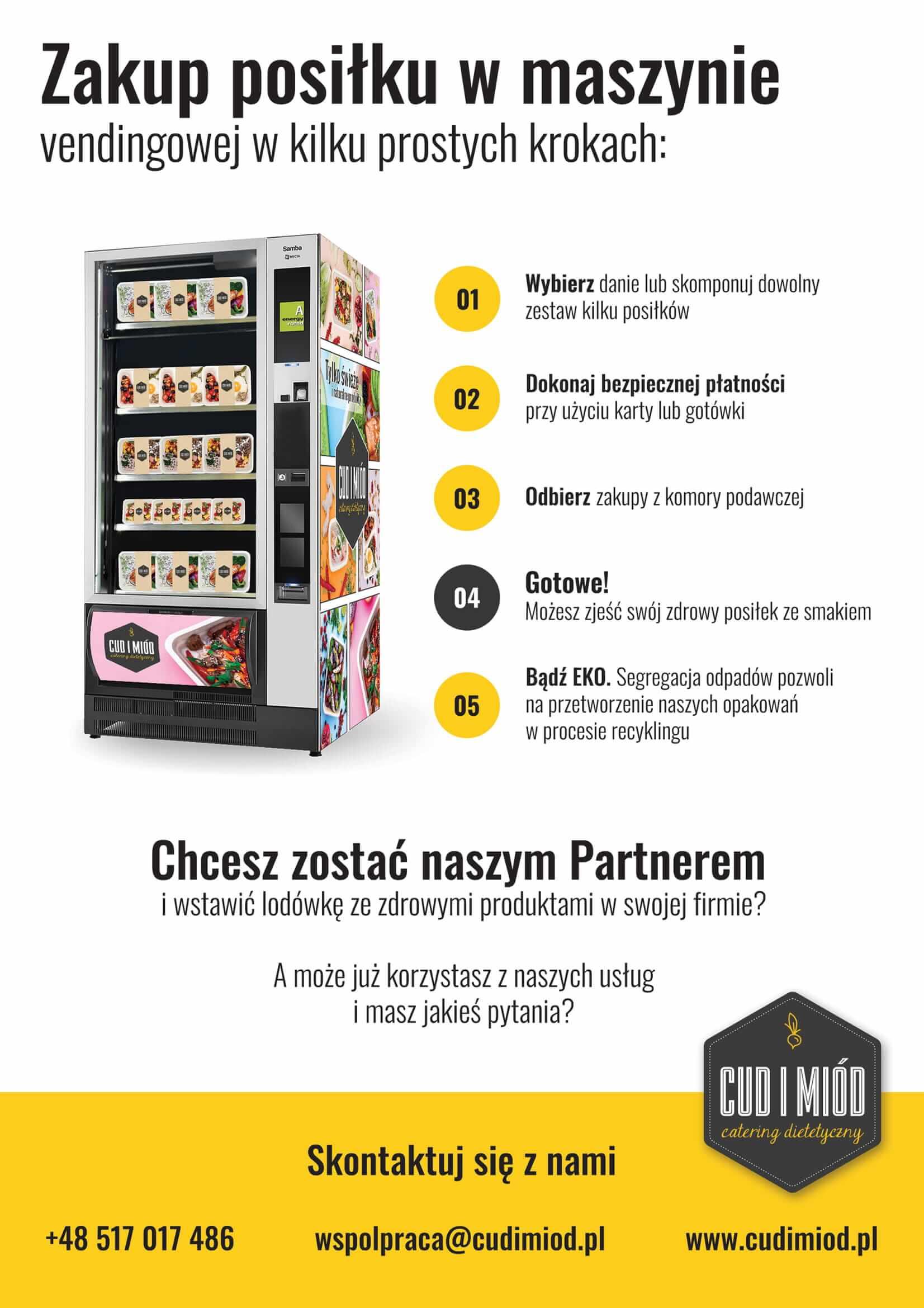 Maszyny vendingowa Cud i Miód